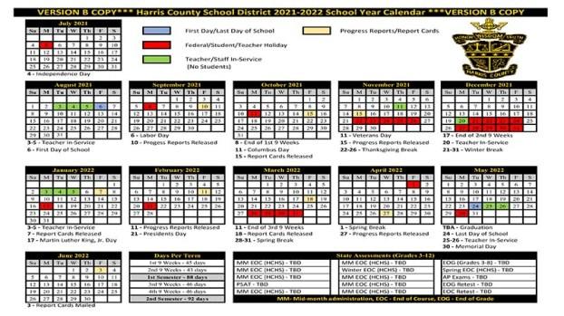 West Point 2021-2022 Calendar Harris County School District announces 2021 2022 school calendar